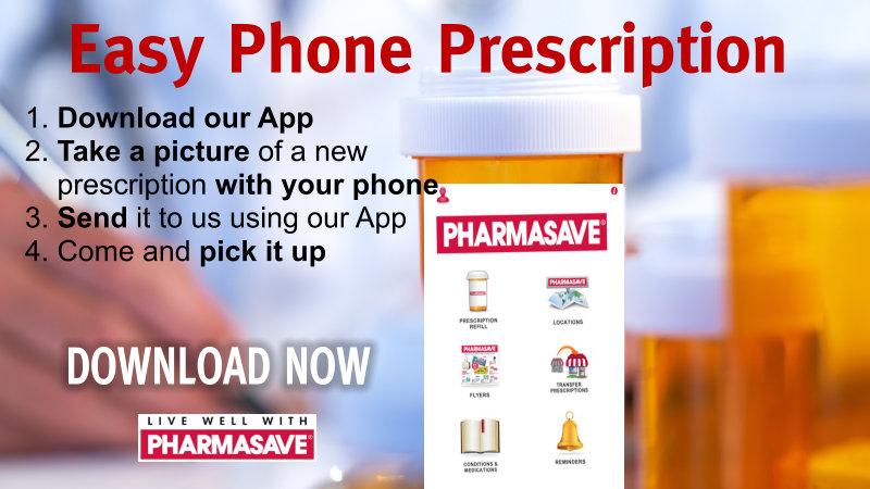 Pharmasave app for easy prescriptions