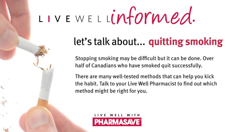 quit smoking at Bram East Pharmasave